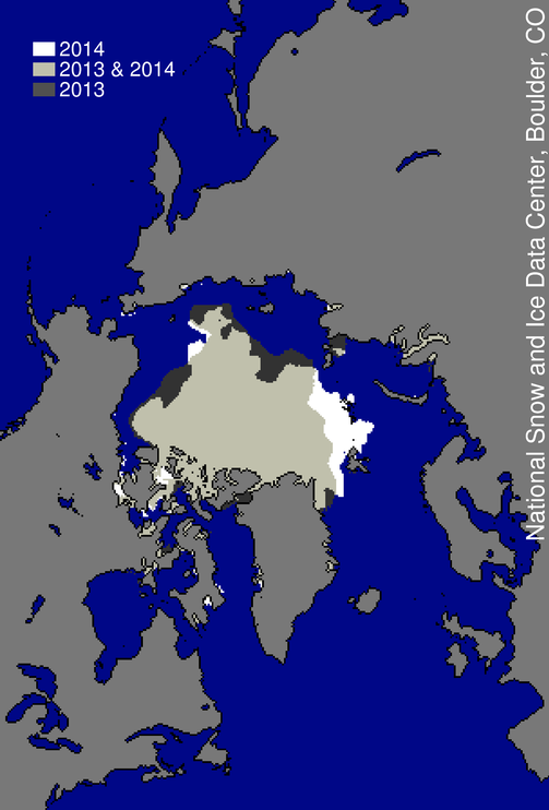 September 2014 Arctic Sea ice