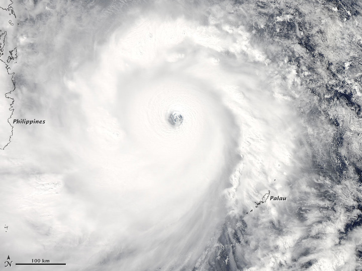 Visible Imagery of Haiyan
