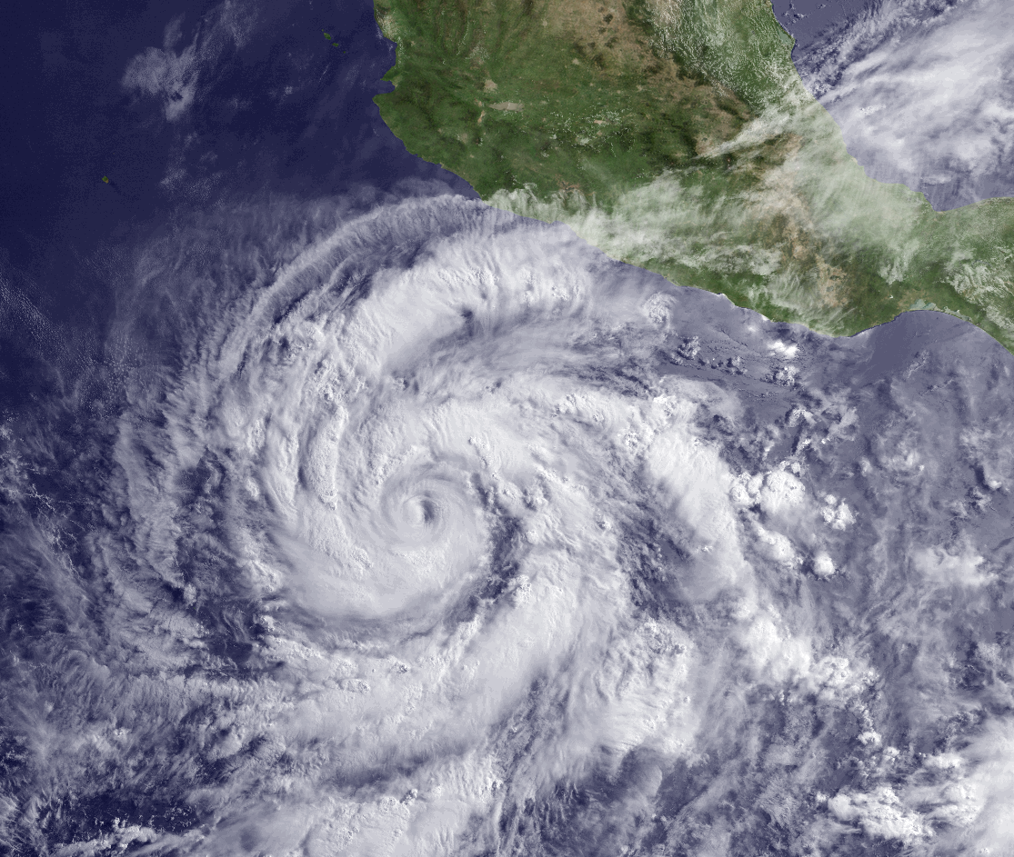 Hurricane Blanca Satellite Image