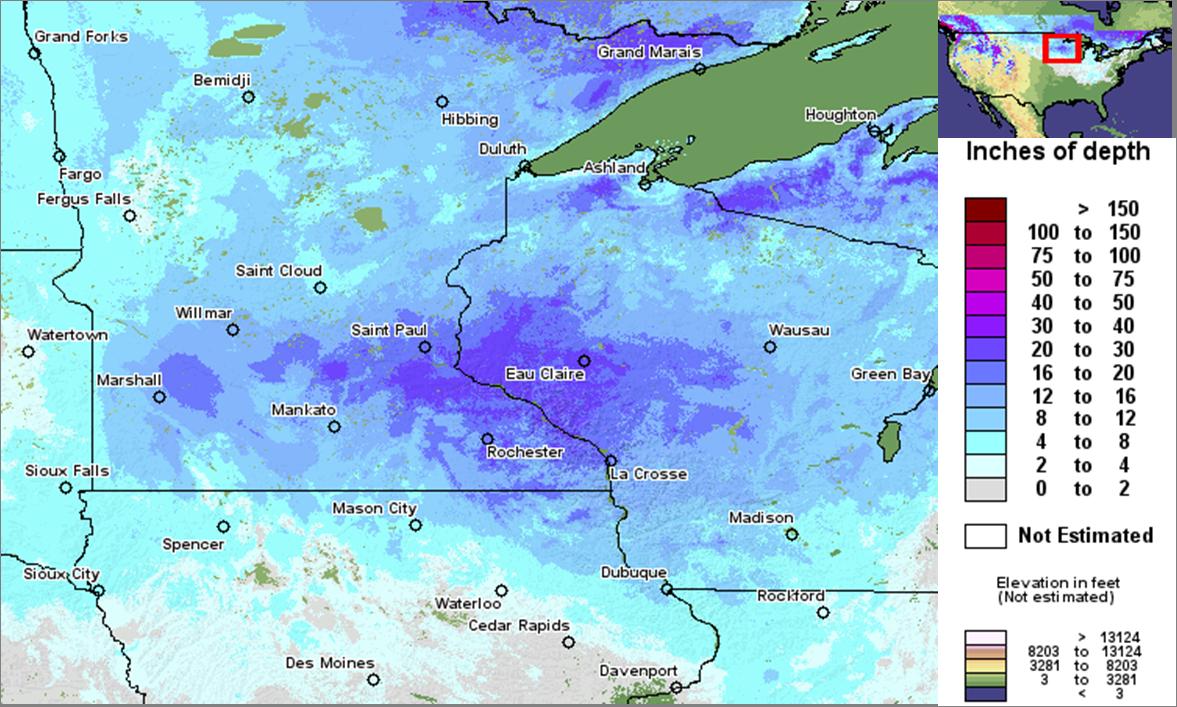 MN Blizzard snowfall