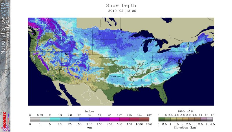 National Snow Analyses - Snow Depth