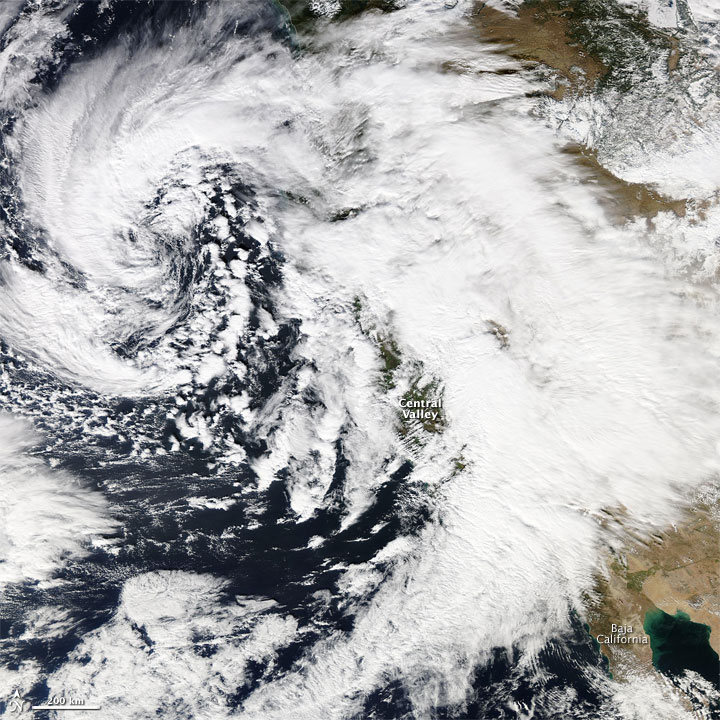 Satellite Image of Western U.S. Storm