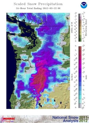 Pacific NW March 22 snowfall