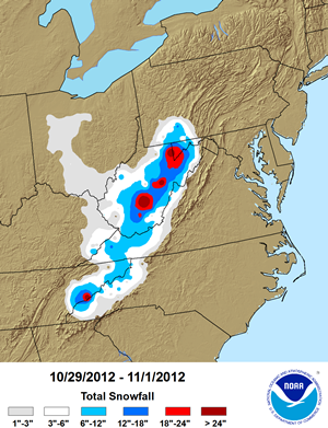 Sandy Snowfall Totals