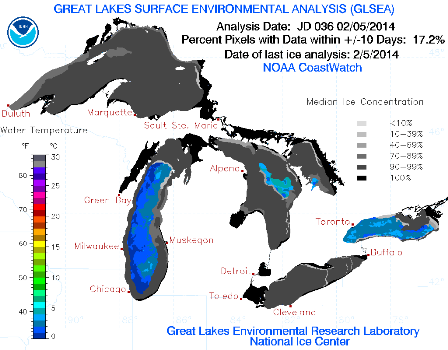 Feb 5 Great Lakes Ice Concentration