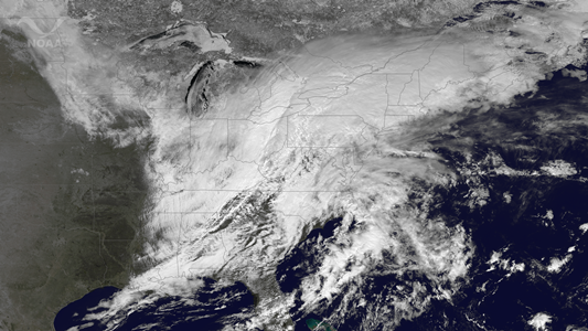 Satellite Image of March 12 Winter Storm
