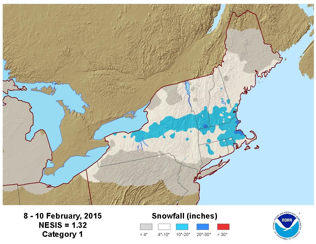 Feb 8-10 Snowfall Totals