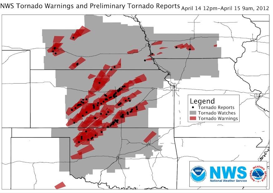 April 14 Tornado Reprots