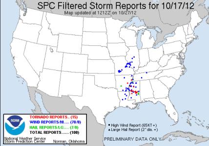 October 17 2012 Tornadoes