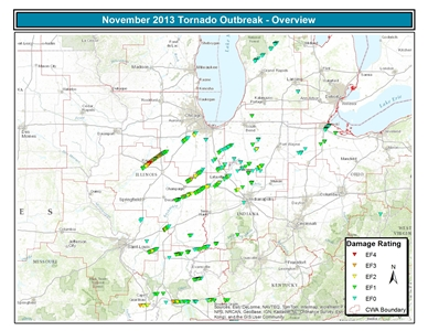 17 November Tornado Reports