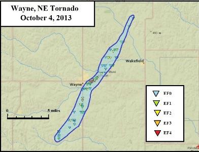 Wayne, Nebraska EF4 Track