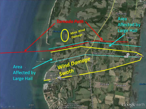 24 July Virginia Tornado Track