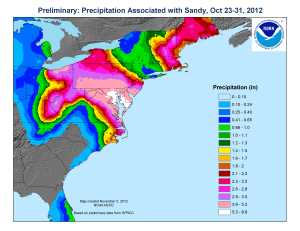 Precipitation associated with Sandy (thumbnail)