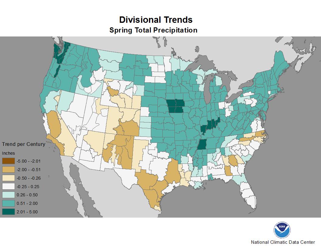 Spring Precipitation Trend