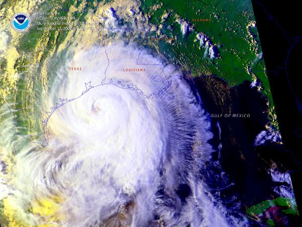 NOAA produced Hurricane Ike poster
