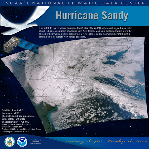 NOAA produced Hurricane Sandy poster