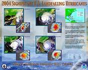 Image for 2004 U.S. Landfalling Hurricanes Poster