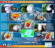 Image for 2005 Significant U.S. Hurricanes Strikes Poster