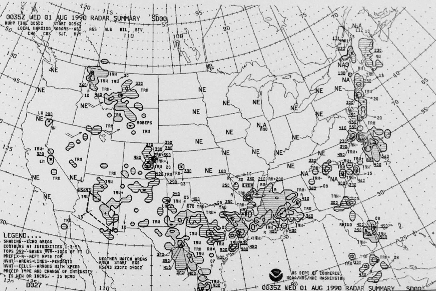Sample image of Radar Summary Chart