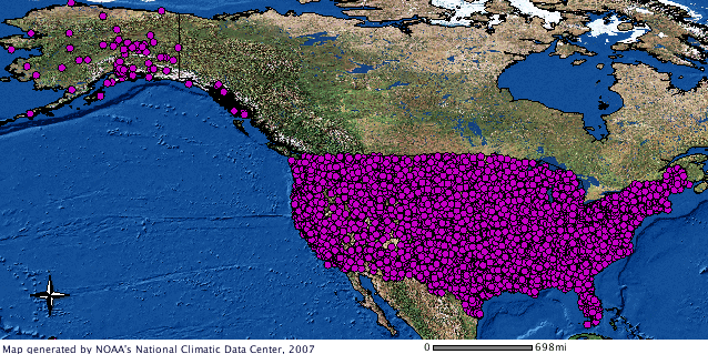 Hourly Precipitation Data GIS image
