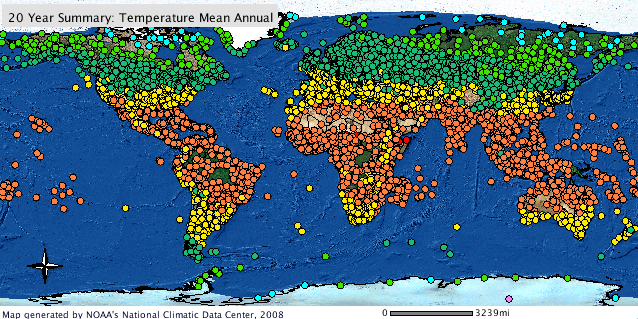 Global Climate Station Summaries GIS map