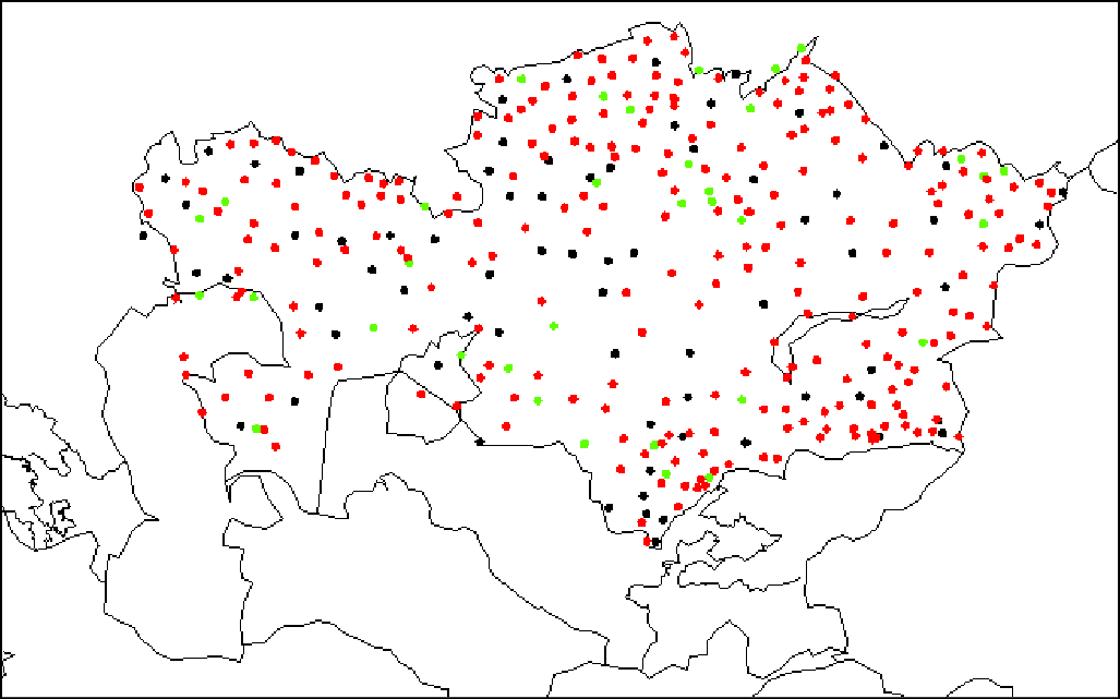 Map of stations included in dataset