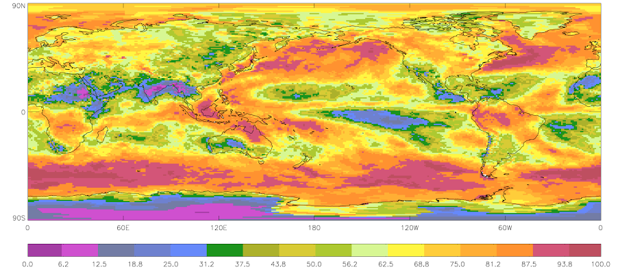 2009 - January Mean Cloud Amount (Sample)