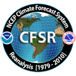 NCEP Climate Forecast System Reanalysis (CFSR) Logo