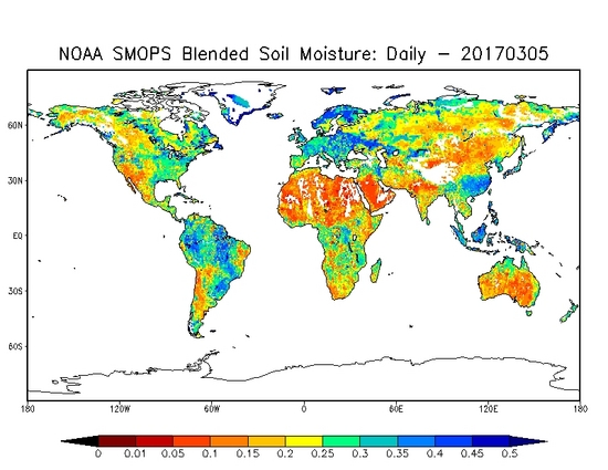 NOAA SMOPS Daily Blended Soil Moisture